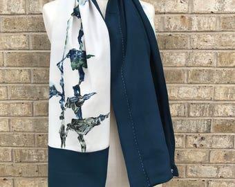 Repurposed Vintage Japanese Silk Kimono Scarf