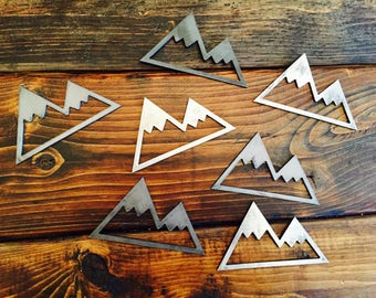 Rustic Metal Frdge Magnets - Mountain