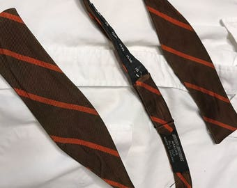 Vintage Brooks Brothers Bowtie - Brown & Orange