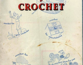 Vintage  'A bookful of crochet' pattern magazine in pdf