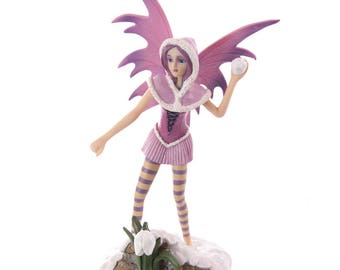 Pink fantasy Fairy with Snowball (10.4 inch)