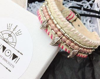 Urban gypsy, gypsy soul, sacred festival wear, gypset, leather cuff bracelets for women, womens leather bracelet, bracelet bead leather,boho