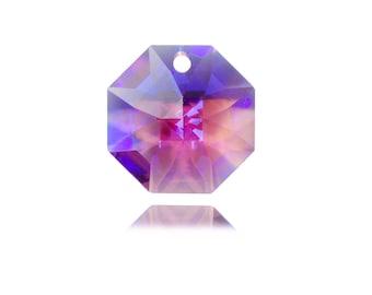 Pack of 10 Swarovski Octagon 14mm Pendant Crystal great for Bezeling Violet AB plus Pattern Instructions