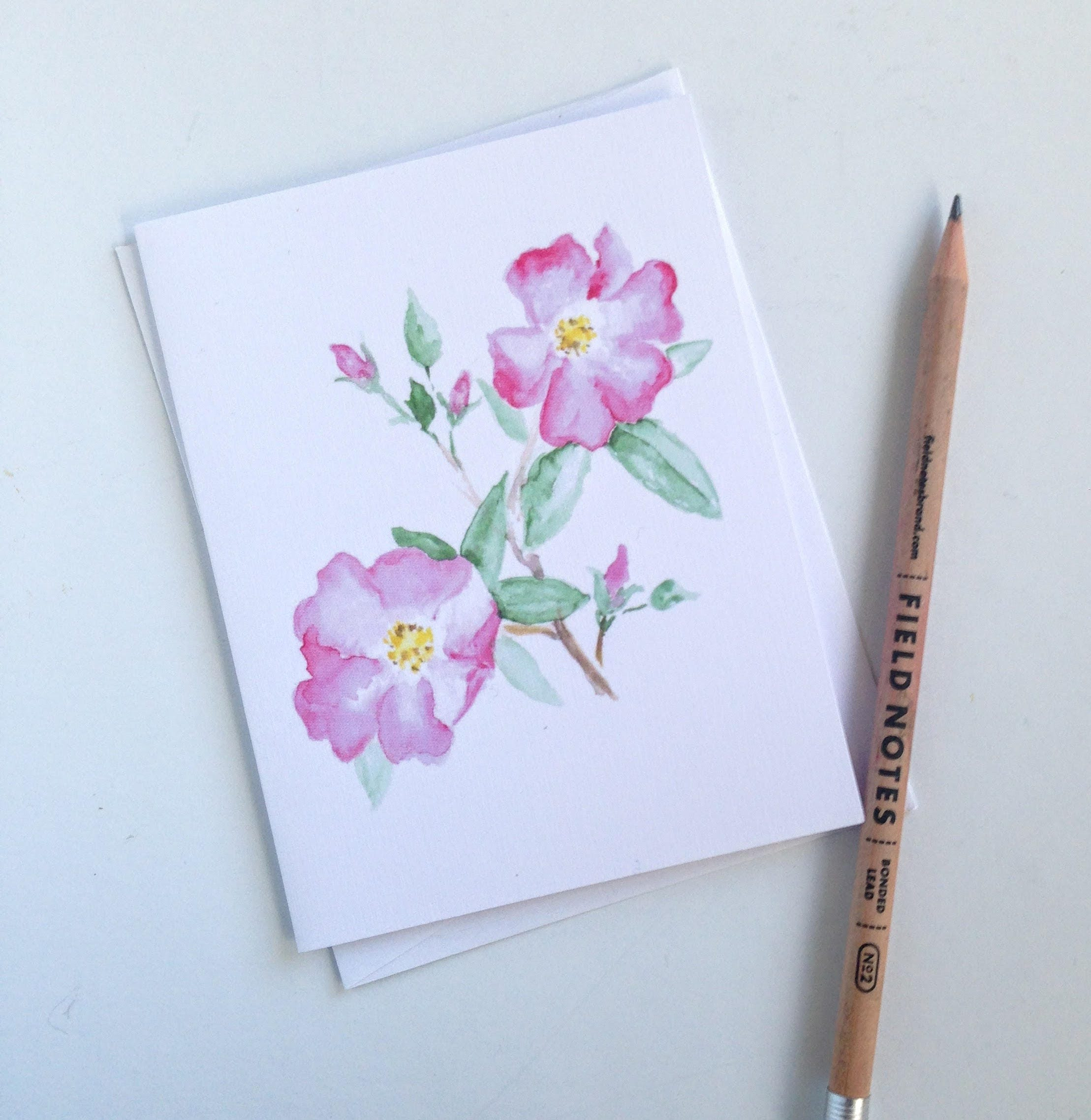 Western Wildflower Card Set Set Of 3 Blank Cards With Envelopes
