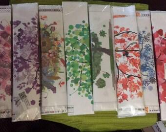 8 Diamond painting kits seasons trees  stash reduction clearance