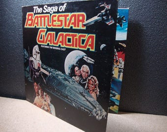 The Saga of Battlestar Galactica on Vinyl Featuring The Original Cast 1979 MCA Records