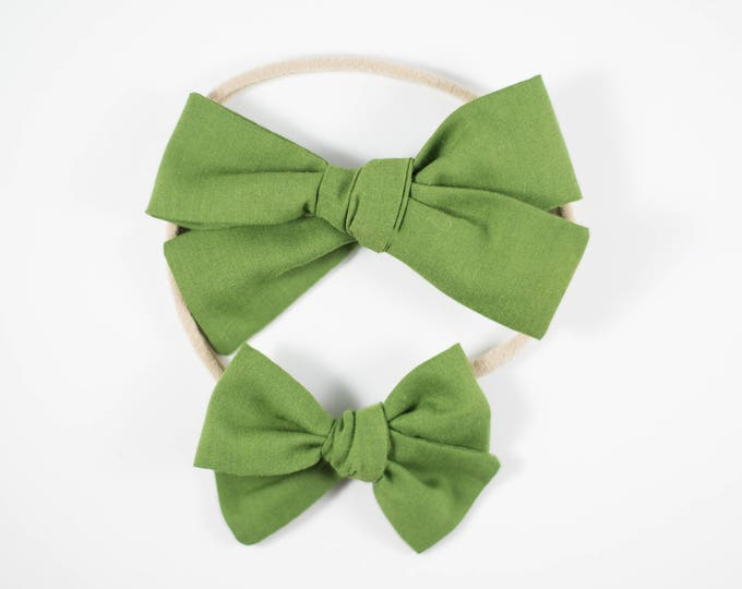Sloane bow || Forest green