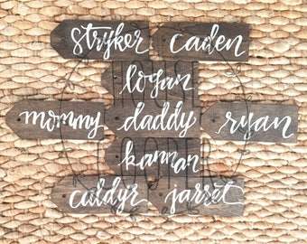 Personalized Stockings | Stocking Tags | Name Tags | Rustic Home Decor | Reusable Gift Label | Gift Tag | Monogram