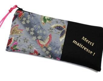 teacher gift, school fabric Kit Japanese butterflies
