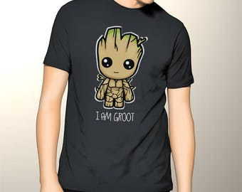 Awesome Tshirt I Am Groot Cute Baby Groot Guardians of The Galaxy Inspired Men Tshirt, Costum Guardians Of The Galaxy Shirt, Movie Tshirt