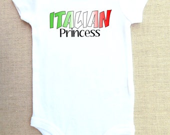Italian princess onesie, baby bodysuit,  one-piece shirt