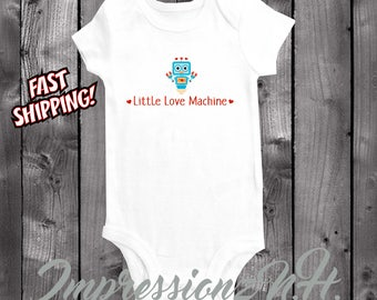 funny robot baby shirt - robot onesie - Little Love Machine
