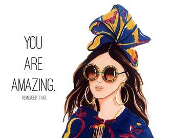 Postcard illustration 'You are Amazing'