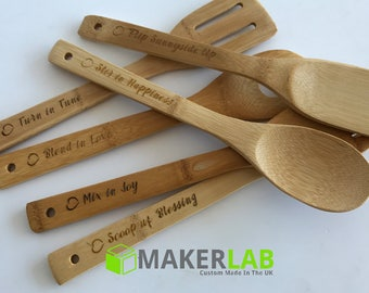 Personalised 6pc Cooking Baking Utensils Set