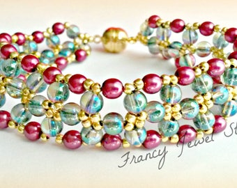 Cod B0301 Crystal beads bracelet Chinese from 4 mm