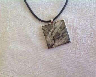 Short necklace square Locket