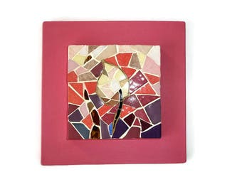 Painting mosaic frame Flower Pink