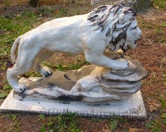 Raku ceramic lion