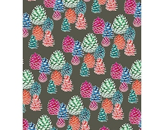 60% OFF Pinecones Bright Wrapping paper | gift wrap | gold glitter | christmas gift | wrapping paper | wrapping tissue | birthday gift