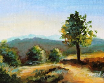Landscape painting, original  painting, Nature painting