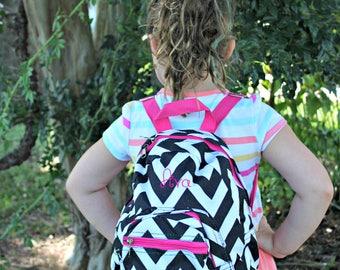 Chevron - Toddler Back Pack - Monogrammed - Back to School