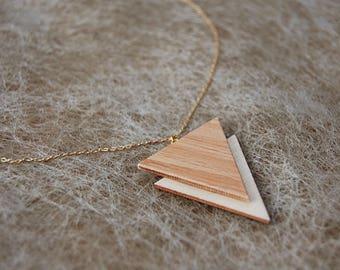 Necklace pendant triangle