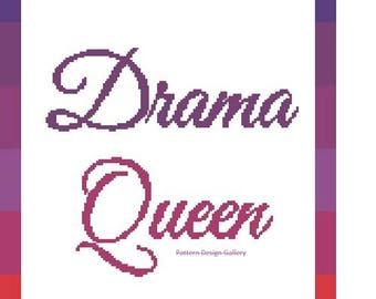 Drama Queen Graphgan Afghan Crochet Pattern Ombre Drama Queen Crochet Graph Pattern PDF Instant Download