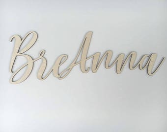 Word Wooden cutout, Name Wood Blank, Name Wooden, Letter Cutout, DIY Name sign, Nursery Name, Baby room name cutout, Script Wood cutout
