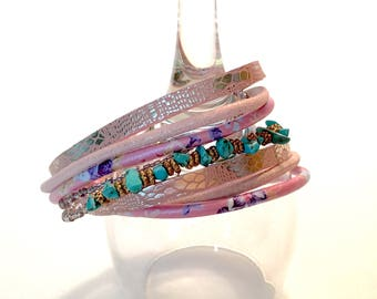Double Wrapped Magnetic Closure Bracelet
