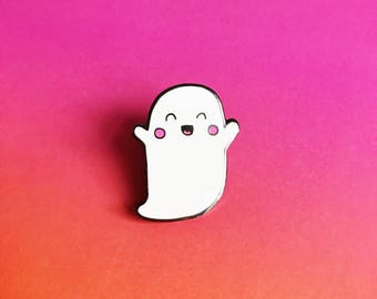 Ghosty Enamel Lapel Pin | Cute kawaii pin hat badge