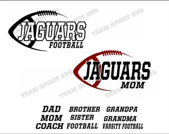 Jaguars Side Football Download Files - SVG, DXF, EPS, Silhouette Studio, Vinyl  Files, Digital Cut Files -Use with Cricut and Silhouette