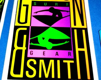 Gordon and Smith Surfing Sticker Endless Summer Pray for Surf Skate