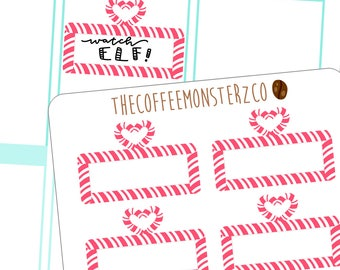 candy cane movie marquees - hand drawn stickers for your planner! C056