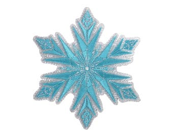 Snowflake Iron On Applique, Genuine Disney Iron On Patch, Frozen Patch, Winter Patch, Kids Patch, Snowflake Patch (119408)