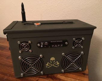 Ammo Can Rechargeable Stereo Boombox V.2.5 - Green