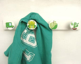 "Coat rack wall ""Apple green"""