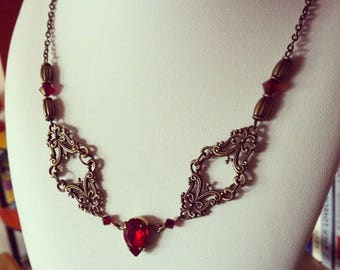 """""""The Red Queen"""" necklace"""