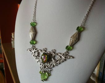 """""""Stained glass"""" necklace"""