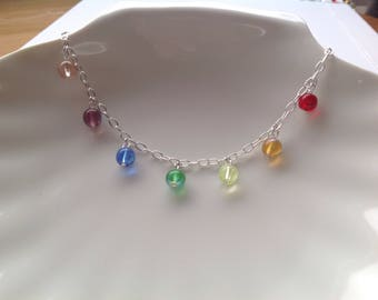 RAINBOW COLLECTION- Sterling silver charm bracelet