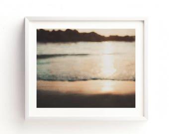 abstract beach decor, seaside photo, beach print, modern wall art, instant download, coastal decor, nautical, baby nursery, sunset print