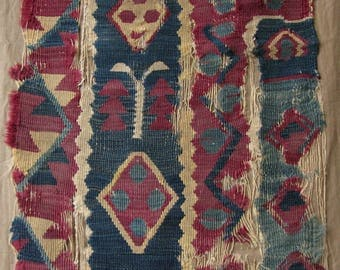 Antique Sarkoy kilim fragment - Free Shipping With UPS