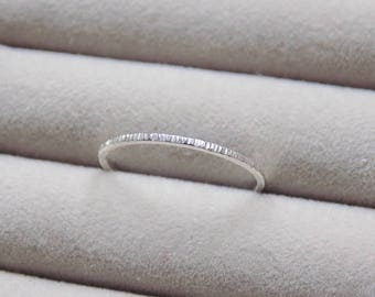 Hammered Ring | Silver Ring | Midi Ring | Dainty Ring | Silver Stacking Rings | Minimalist Jewellery | Delicate Ring | Sterling Silver Ring