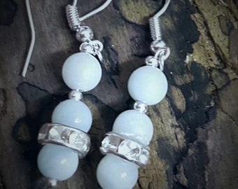 Natural Gemstone Amazonite Earrings,