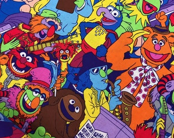 Disney Muppets Packed Cotton Fabric from Springs Creative, Miss Piggy, Kermit, Fozzie, Muppets