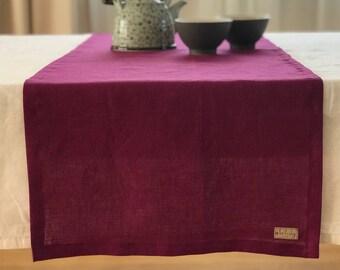 Linen table runner, linen tablecloths