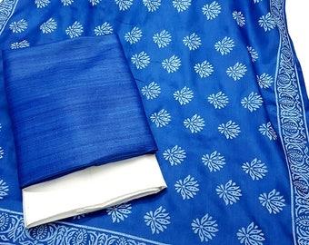 Pure Silk Salwar Suit - Tussar Ghicha Silk