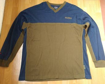 FUBU sweatshirt, vintage green longsleeve sweat shirt of 90s hip-hop clothing, 1990s hip hop shirt, OG, gangsta rap, hoodie, size L Large