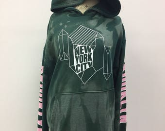 New York City Distressed Hoodie