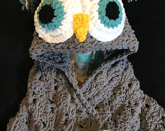 Owl hooded Blanket - child size