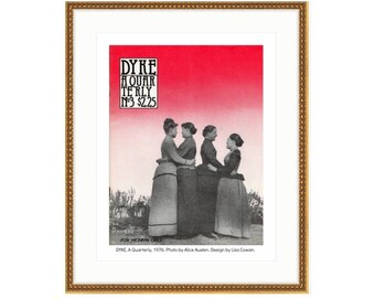 Alice Austen cover of DYKE, A Quarterly, 1976. Printed and framed. 3 sizes and 2 frame choices available. FREE SHIPPING.